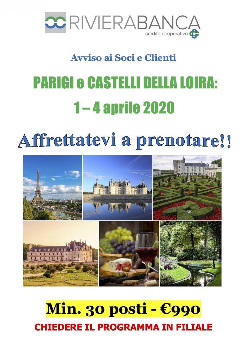 Gita sociale Parigi e Loira