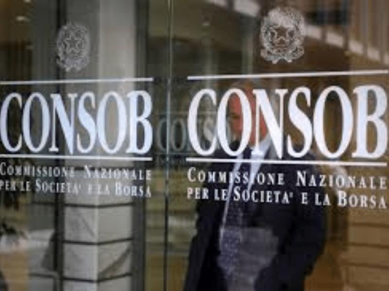 Delibera Consob - Divieto short selling