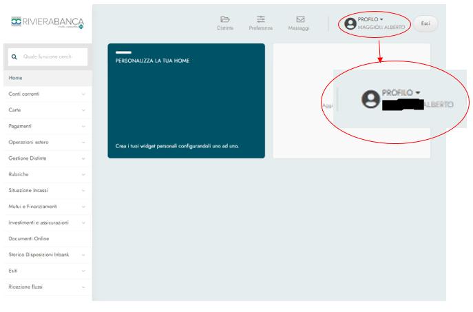 InBank inserimento e-mail